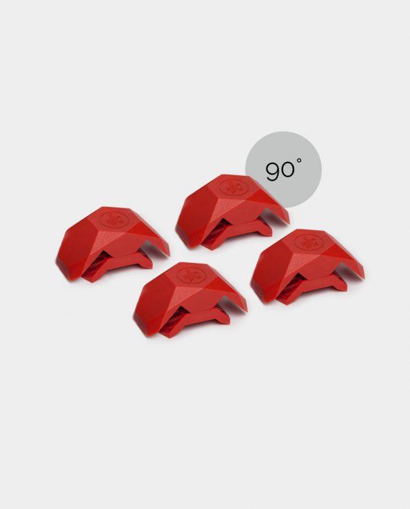 Connecteurs 90° playwood rouges